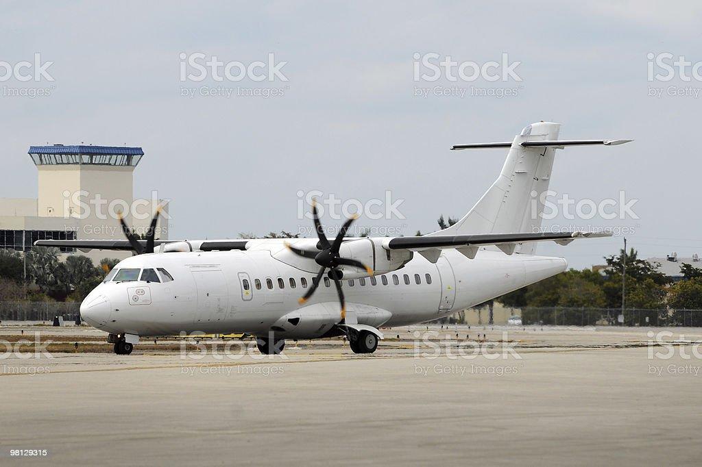 Turboprop airplane royalty-free stock photo