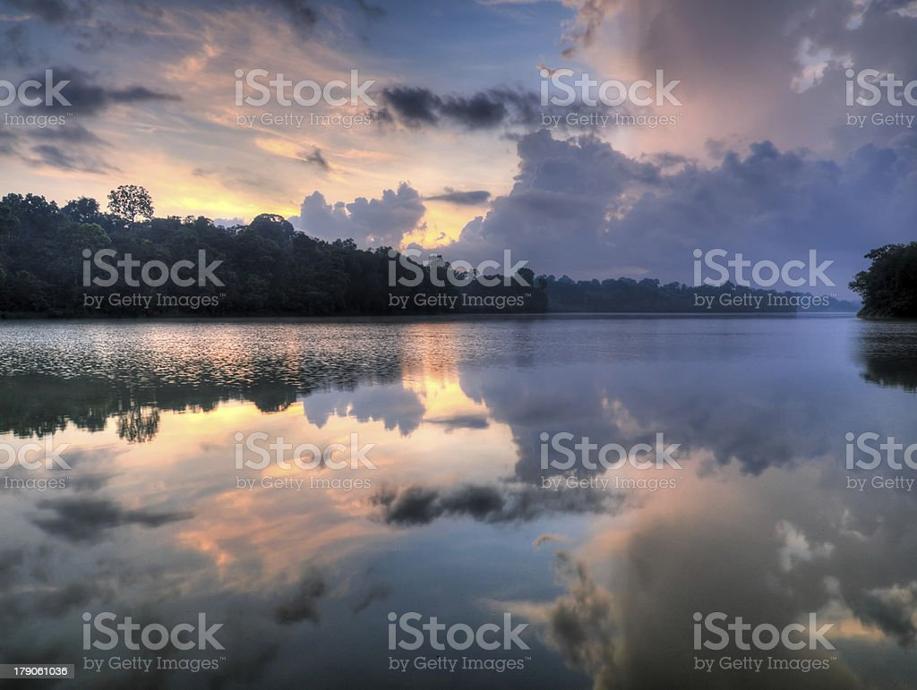Turbulent Cloudscape at Dawn royalty-free stock photo