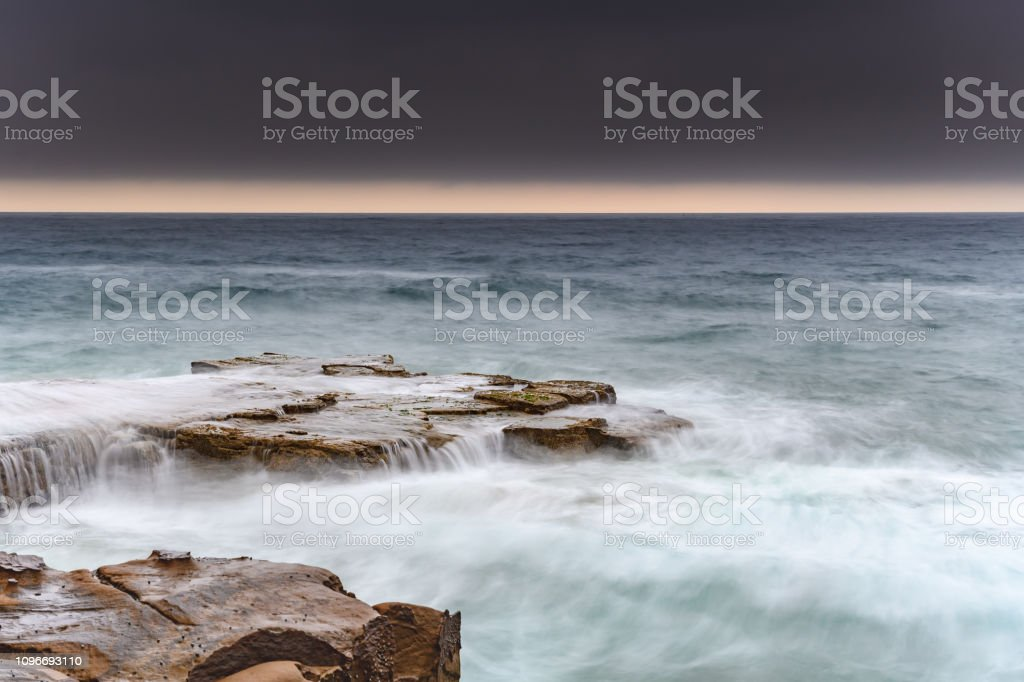 Turbulent Dawn Seascape stock photo