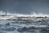 istock Turbulent ocean lighthouse 918749116