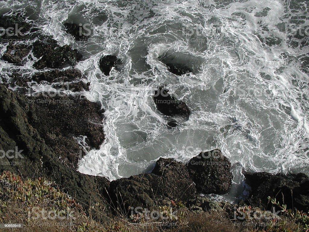 Turbulent Sea royalty-free stock photo