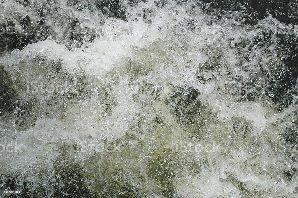 Turbulente l'eau photo libre de droits