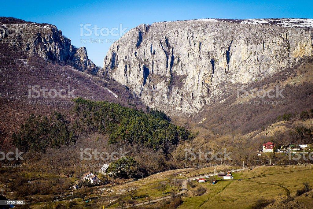 Turda Gorge - Cheile Turzii, Transylvania, Romania stock photo