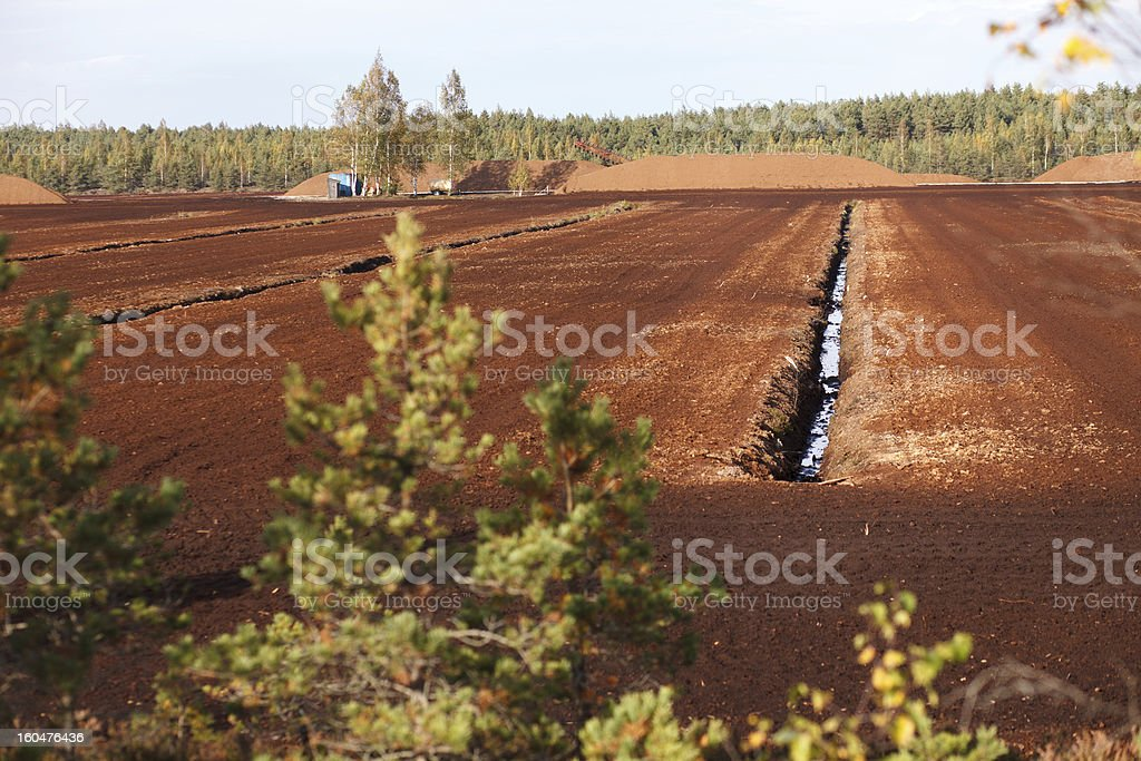 Turf extraction field royalty-free stock photo