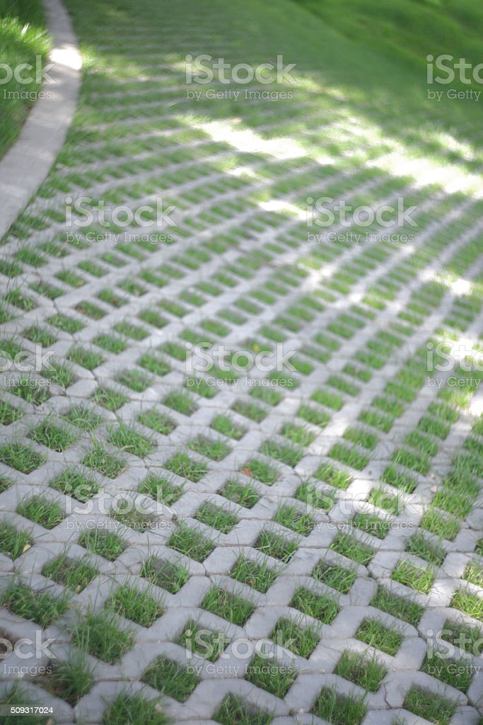 Turf - Grass Pavers stock photo