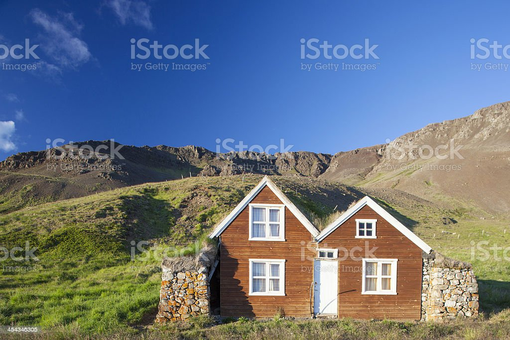 Turf Houses, Iceland stock photo