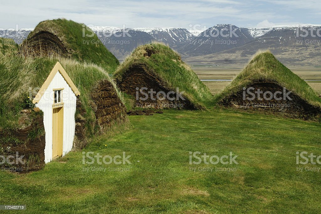 Turf houses royalty-free stock photo