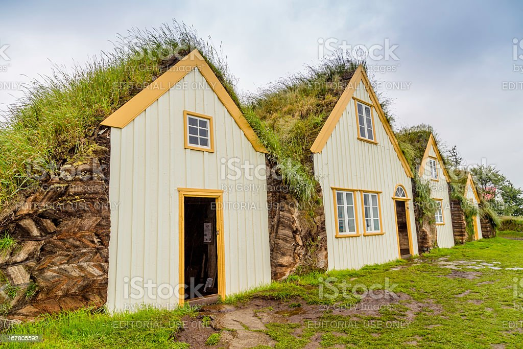 Turf Houses stock photo