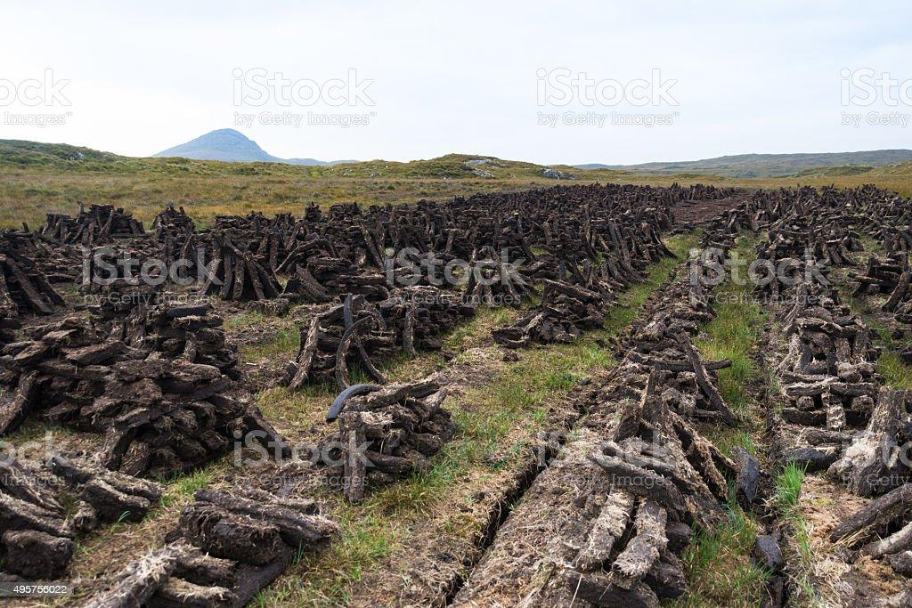 Turf, Ireland stock photo