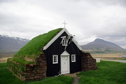 Turf Roofed Church, Iceland