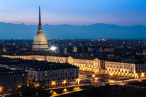 Turin at night