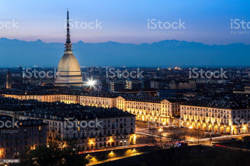 Turin bei Nacht – Foto