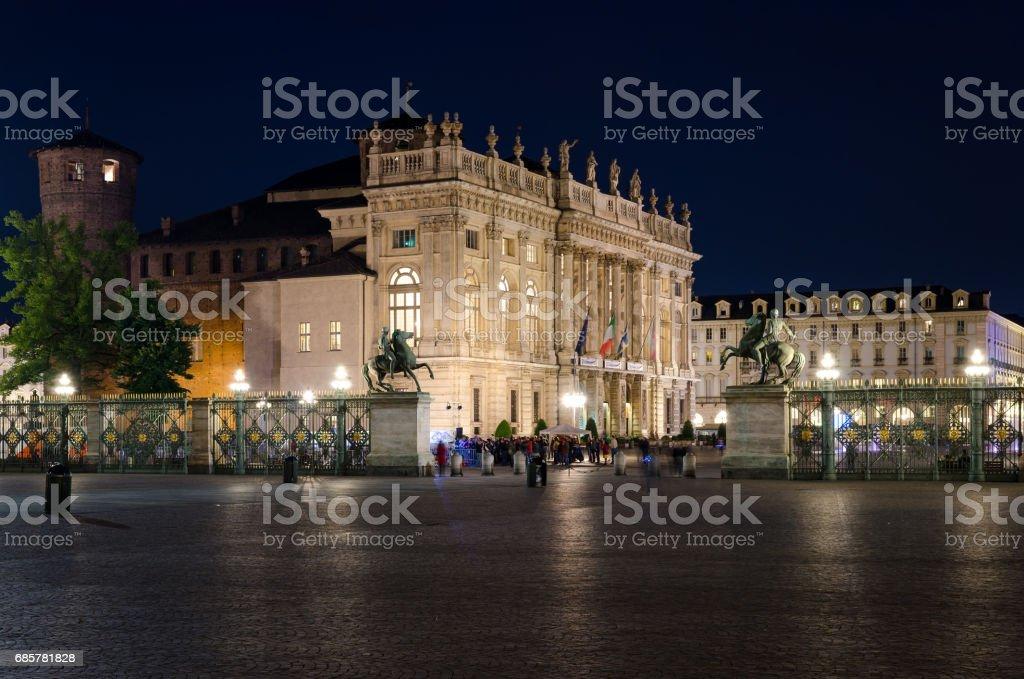 Torino Piazza Castello royalty-free stock photo