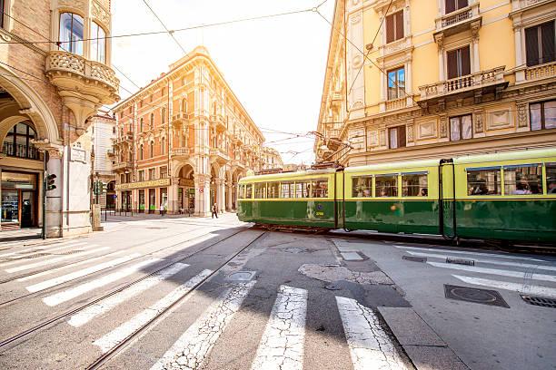 Turin city in Italy stock photo