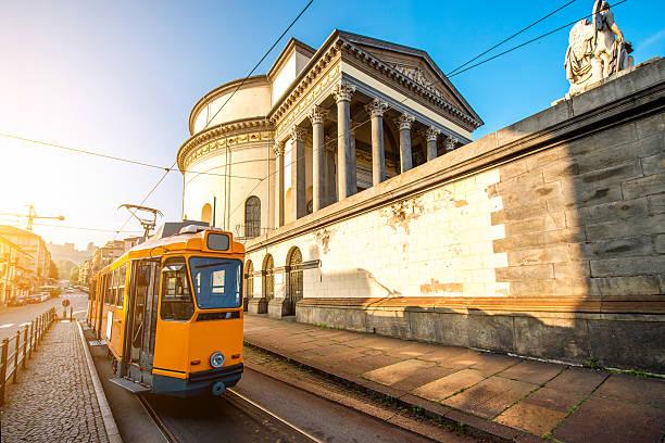 Turin cityscape view stock photo