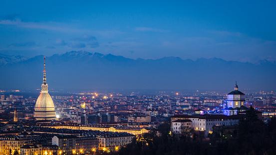 Turin (Torino) high definition panorama with Mole Antonelliana