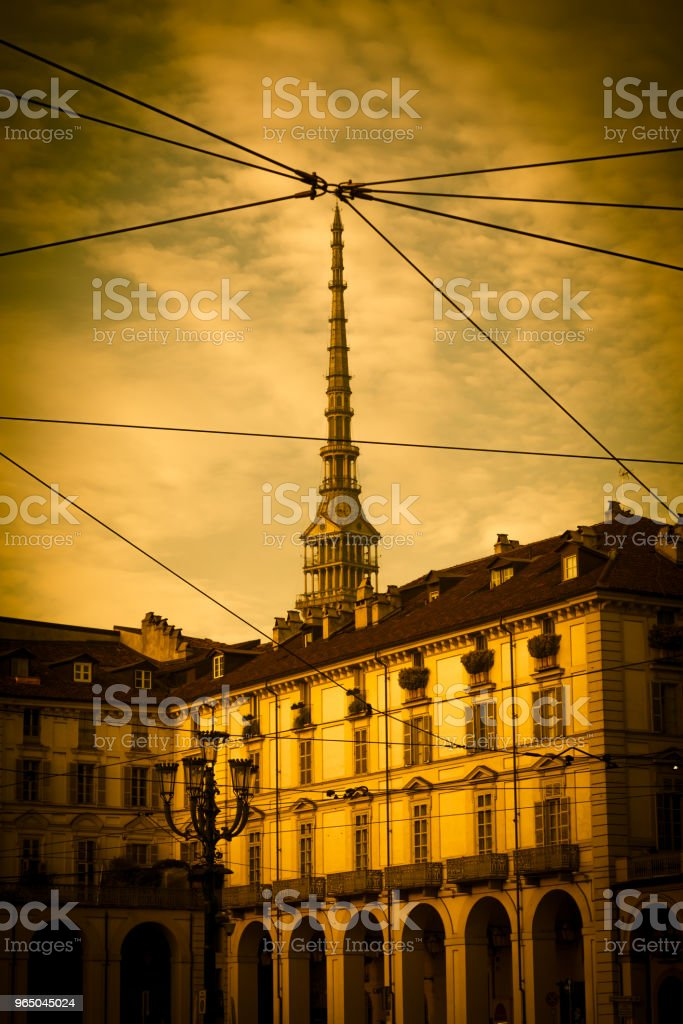 Turin, Italy - Mole Antonelliana view royalty-free stock photo