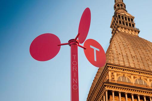 Turin Mole and tourism signage