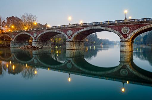 Turin (Torino), Ponte Isabella and river Po