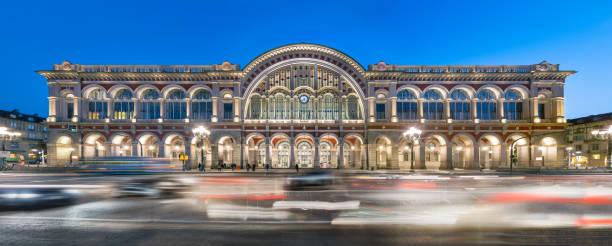 Turin, Porta Nuova railway station stock photo