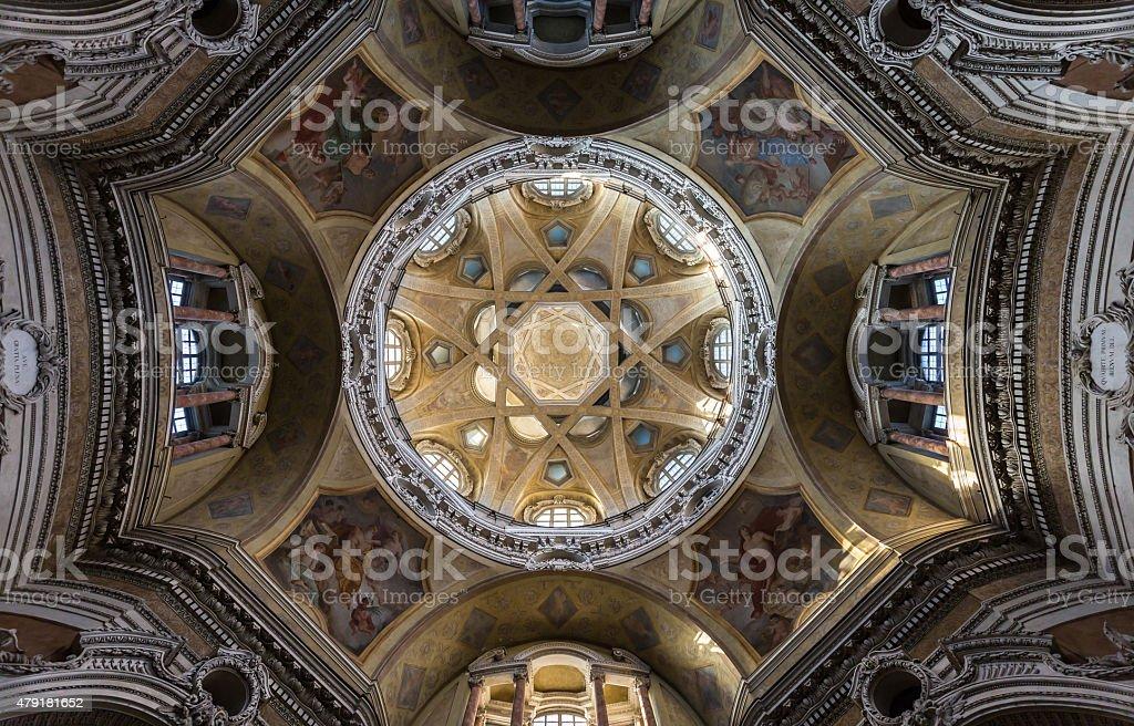 Torino La Chiesa Barocca Di San Lorenzo Architettura Dinterni ...