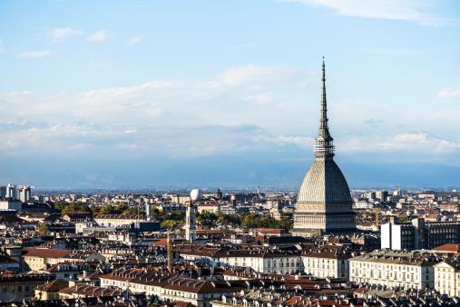 Turin skyline with Mole Antonelliana