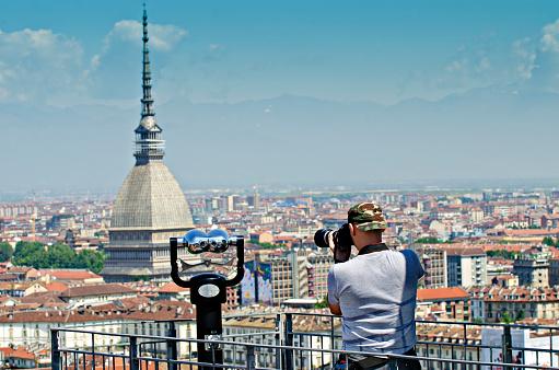 Turin viewpoint the Mola Antonelliana