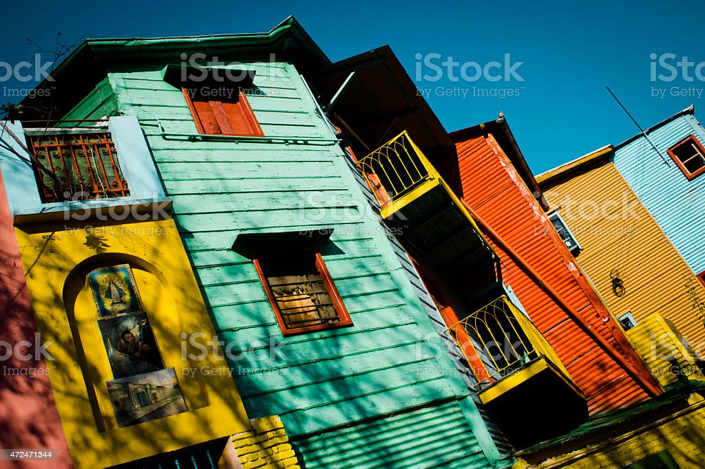 Turistic place of argentina (caminito) stock photo