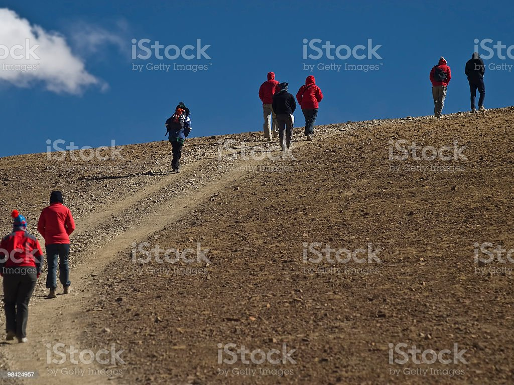 Turists on Tibet royalty-free stock photo