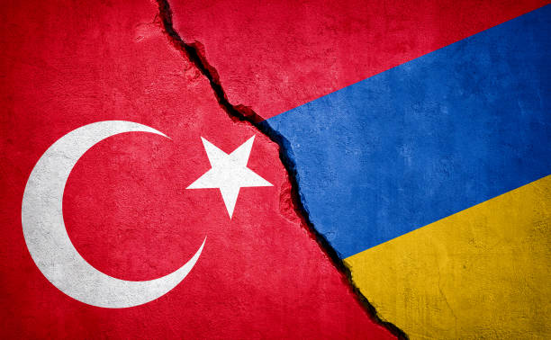 Turkey and Armenia conflict Turkey and Armenia conflict. Country flags on broken wall. Illustration. armenian genocide stock pictures, royalty-free photos & images