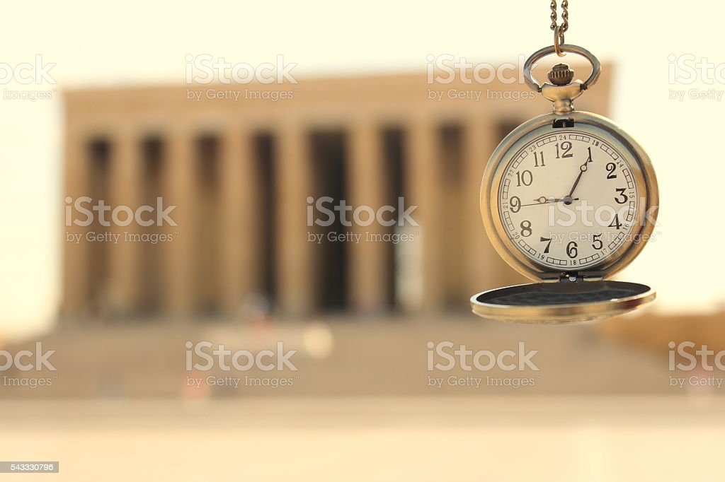 Turkey Ankara mausoleum and time stock photo