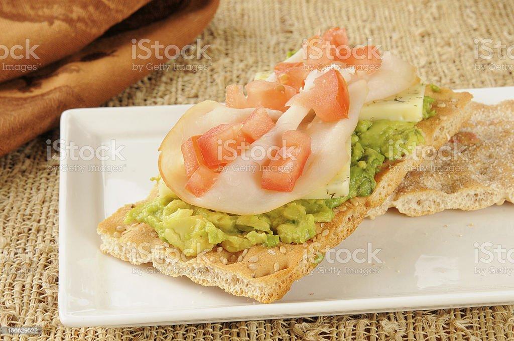 Turkey avocado canapes royalty-free stock photo