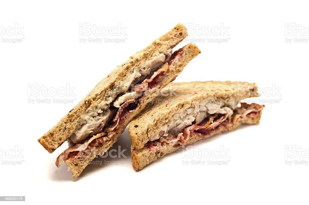 Turkey Bacon Sandwich stock photo