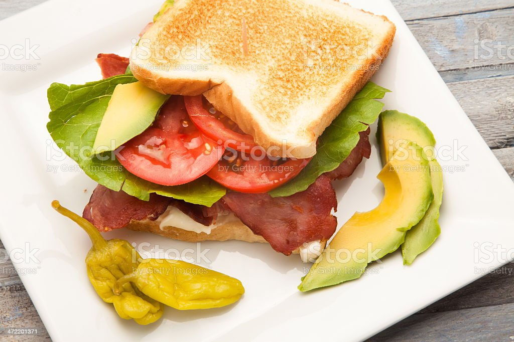Turkey BLT stock photo