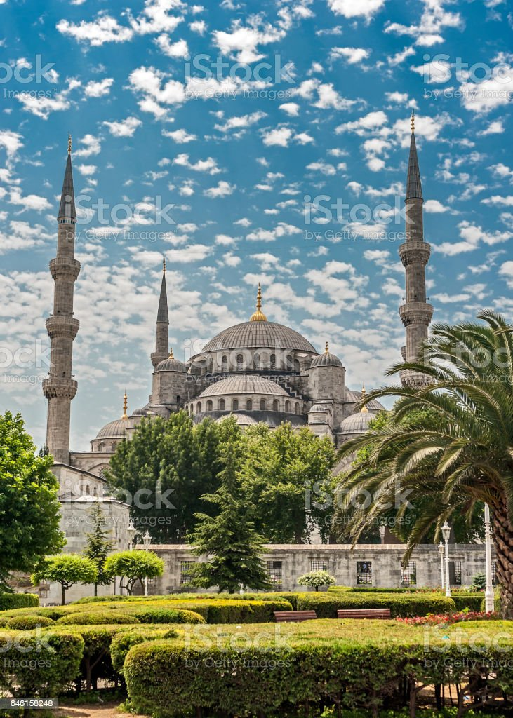 Turkey. Blue Mosque or Mosque or Sultanahmet stock photo