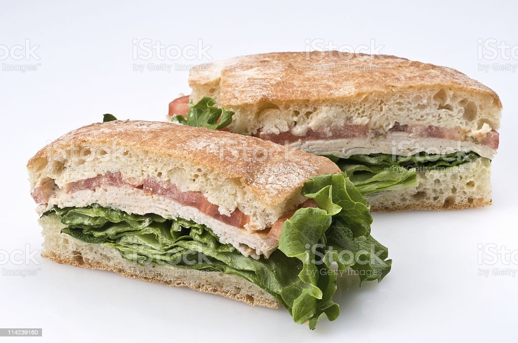 Turkey breast ciabatta royalty-free stock photo