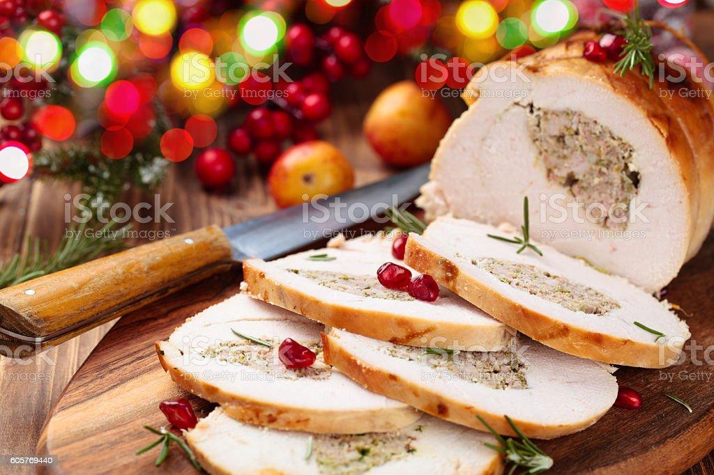 Turkey  breast for holidays. stock photo