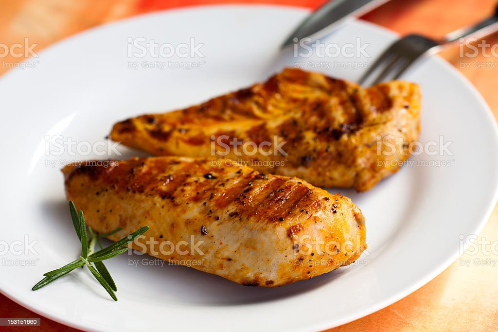 BBQ , Turkey  Breast Meat ,grilled royalty-free stock photo