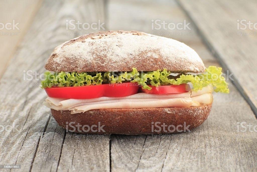 Turkey breast sandwich stock photo
