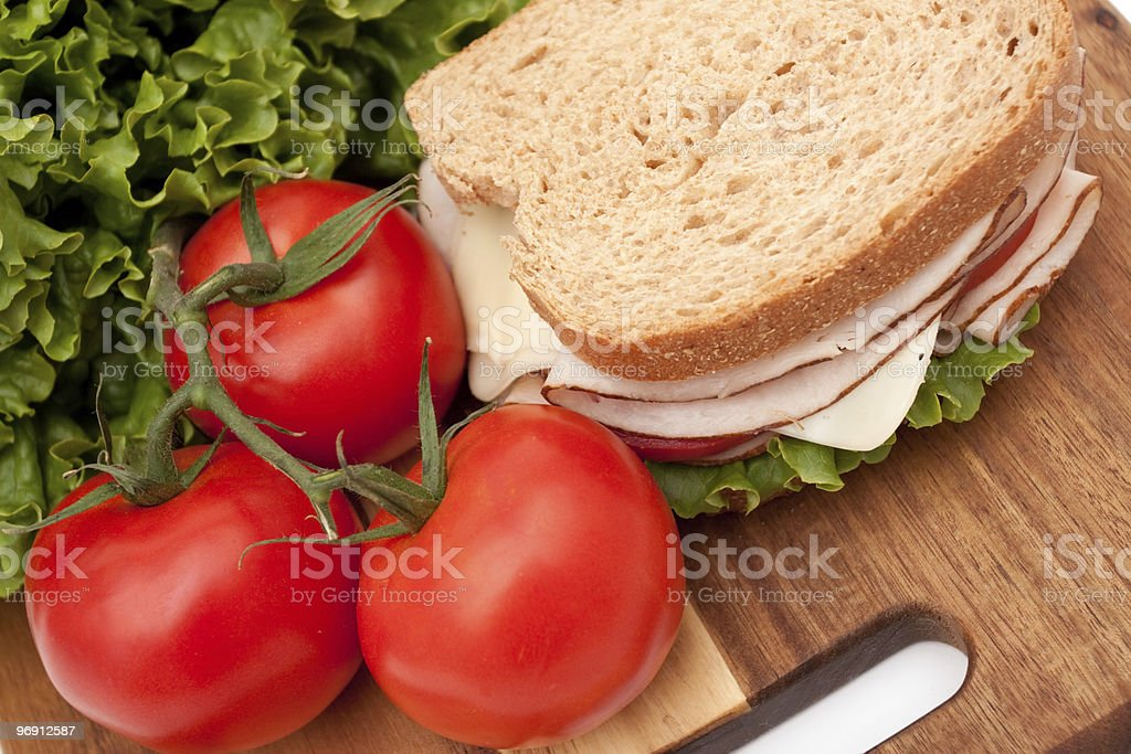 Turkey breast sandwich royalty-free stock photo