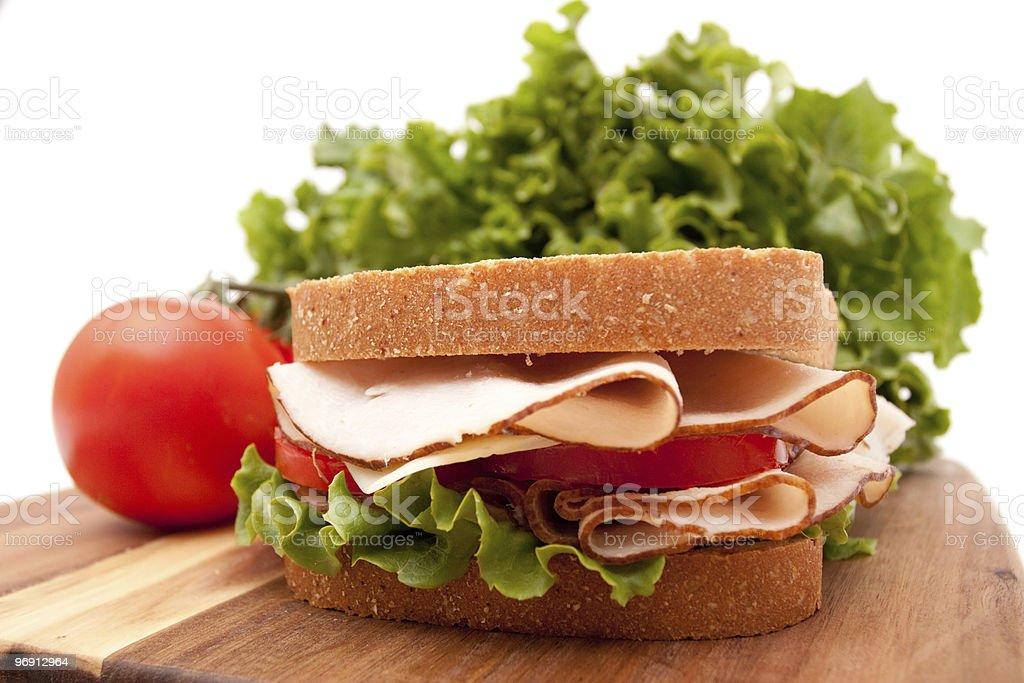 Turkey breast sandwich royalty-free stock photo