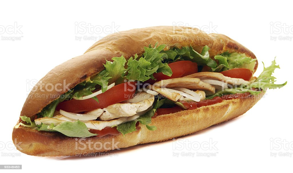 turkey breast sub sandwich royalty-free stock photo