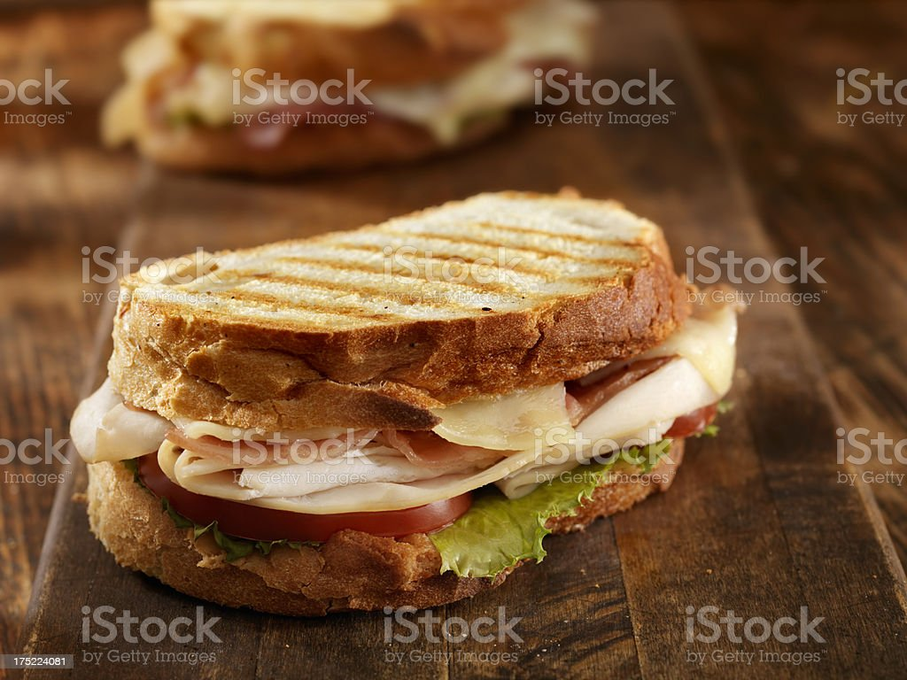 Turkey Club Panini stock photo