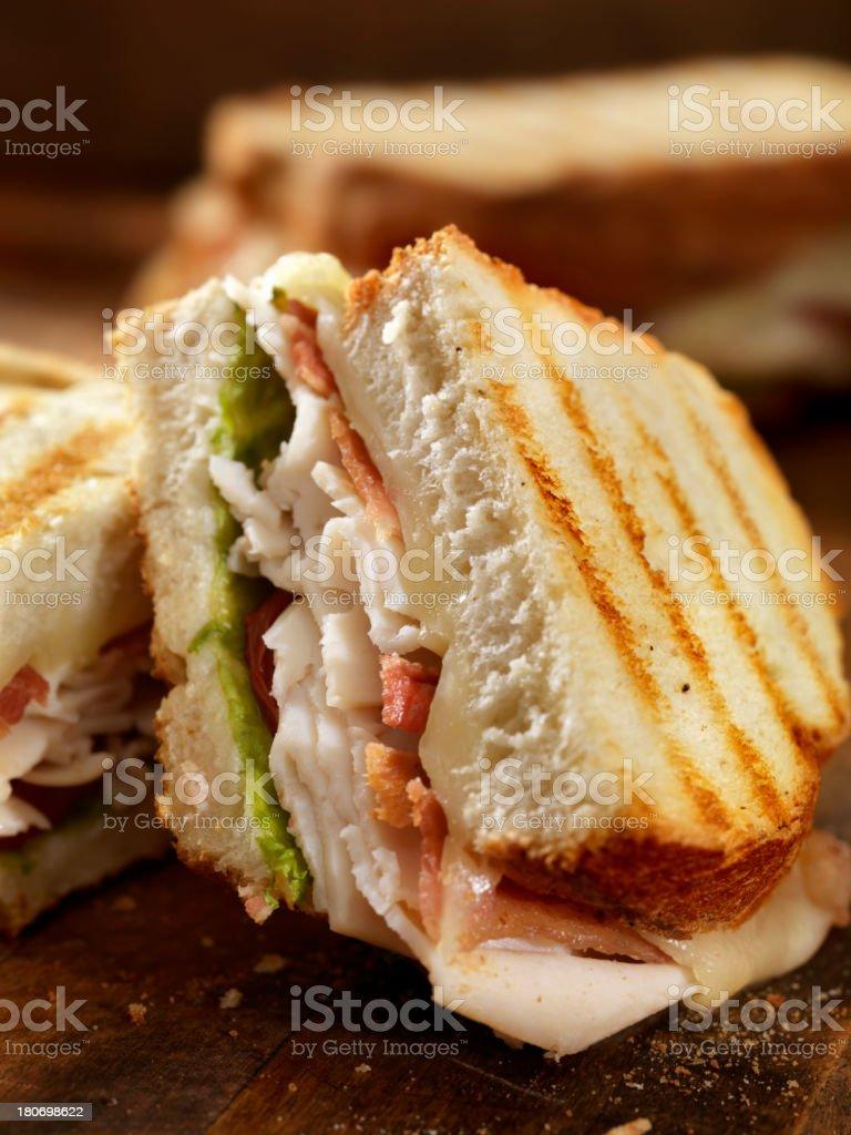 Turkey Club Panini stock photo