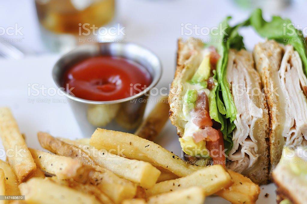 Turkey Club Sandwich stock photo