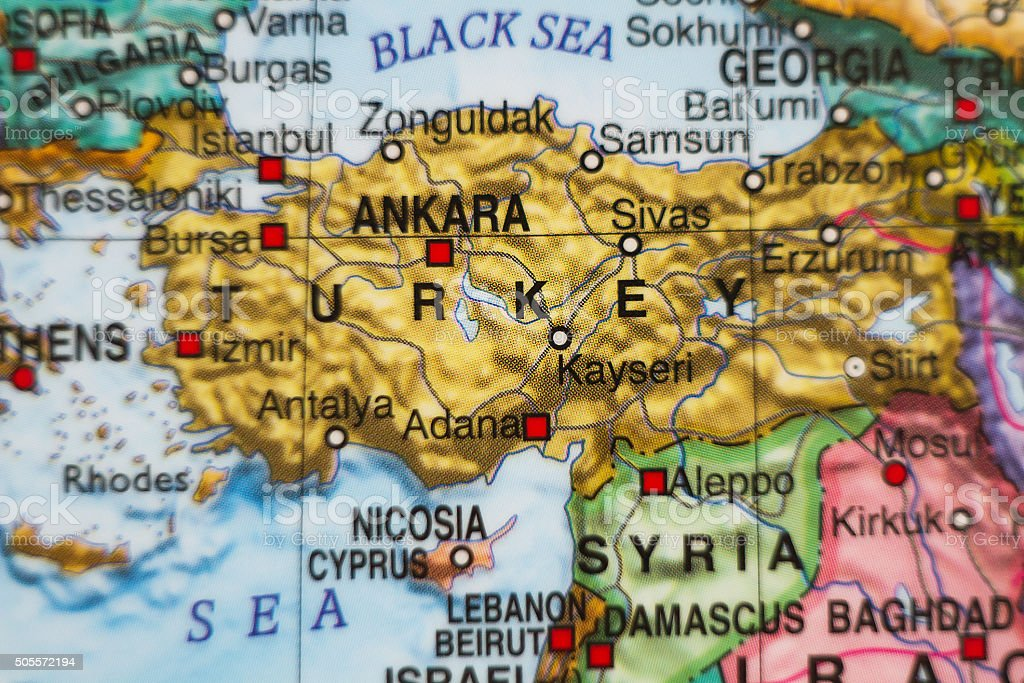Turkey Country Map Stock Photo & More Pictures of Anatolia | iStock