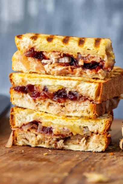 Turkey Cranberry Sandwich stock photo