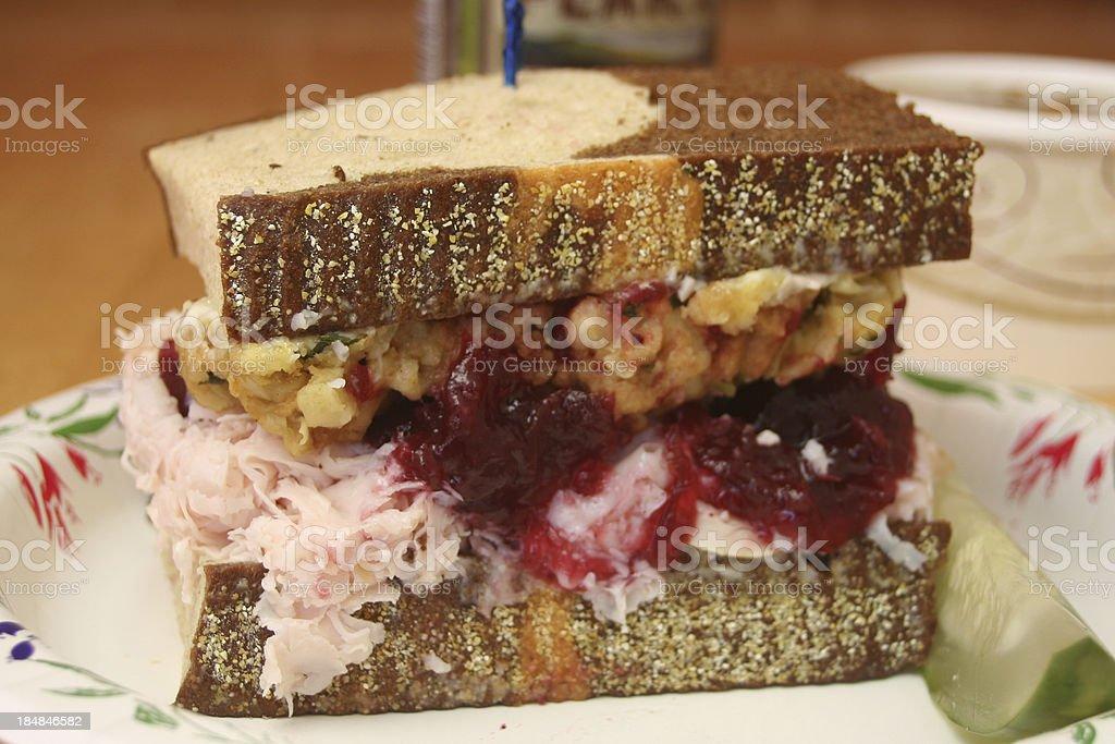 Turkey, Cranberry & Stuffing Sandwich stock photo