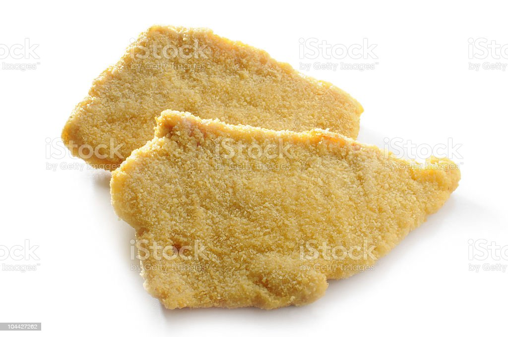 turkey cutlet with breadcrumbs royalty-free stock photo