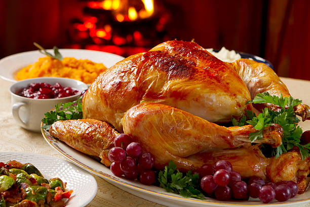 Turkey Dinner  carving knife stock pictures, royalty-free photos & images